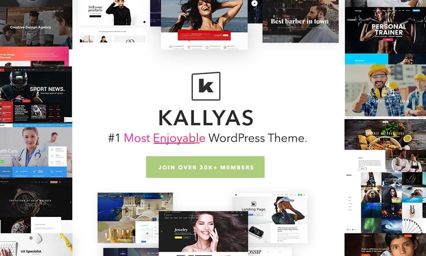 10Kallyas - طرح های خلاقانه قالب سایت