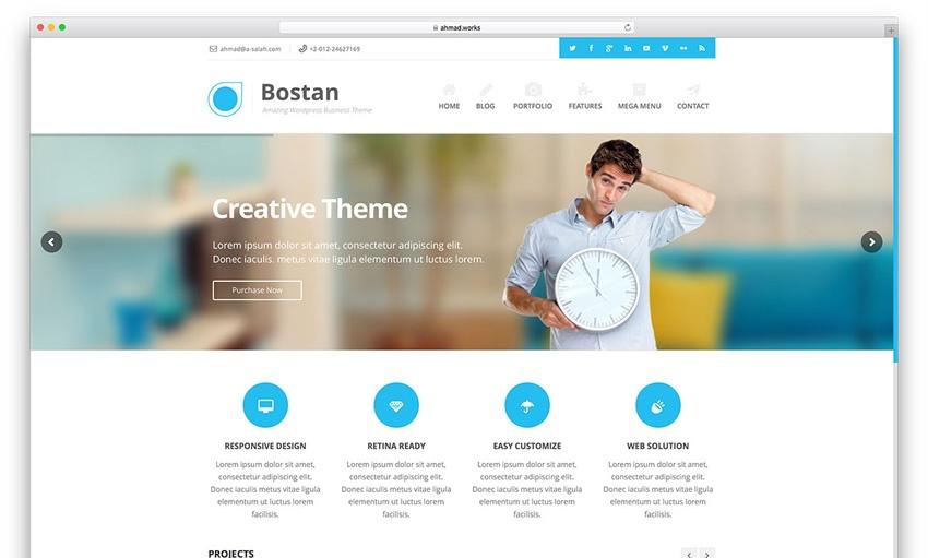 5Bostan Business - قالب نیمه کلاسیک و مدرس