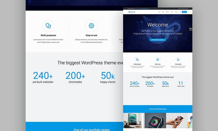 10BeTheme - قالب ریسپانسیو فروشگاهی و شرکتی وردپرس