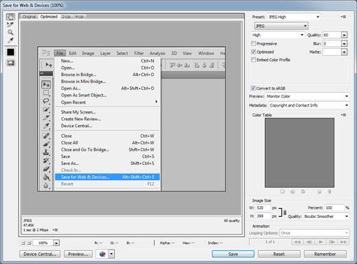 طریقه آموزش بهینه سازی تصاویر سایت