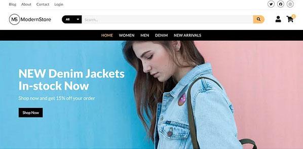 اولین قالب فروشگاه اینترنتی رایگان Modern Store