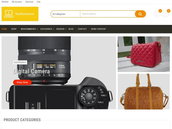 سومین قالب فروشگاه اینترنتی رایگان Multicommerce