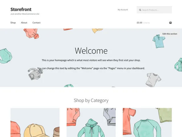 ششمین قالب فروشگاه اینترنتی رایگان Storefront