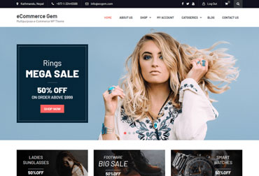 قالب فروشگاه اینترنتی eCommerce Gem