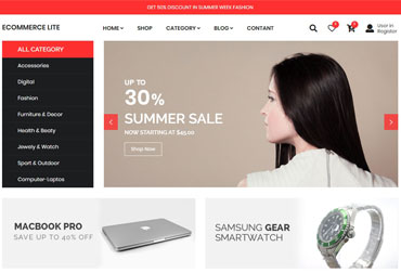 قالب فروشگاه اینترنتی eCommerce Lite