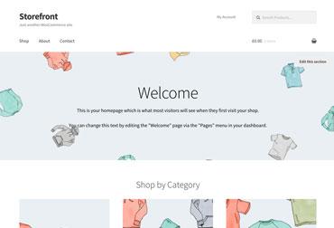 قالب فروشگاه اینترنتی Storefront