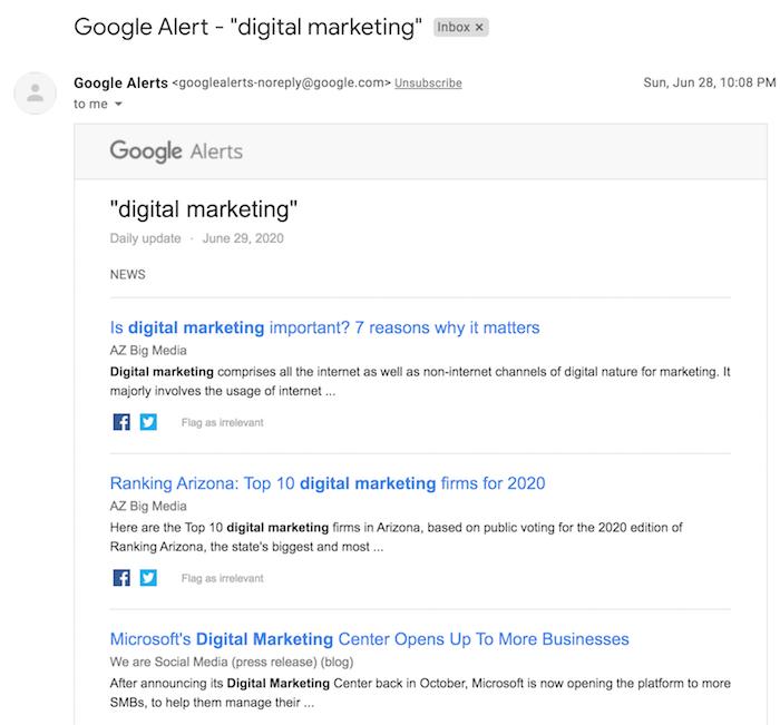 گوگل آلرتس یا Google Alerts چیست؟