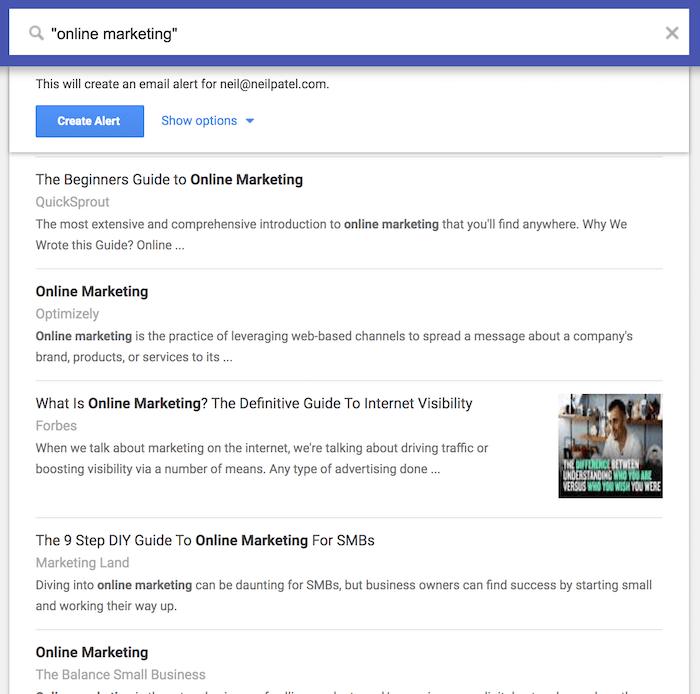 نقل قول در گوگل آلرتس